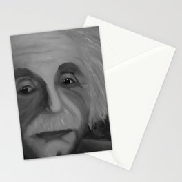 Albert Einstein, Original painting by Lu, black-and-white Stationery Cards