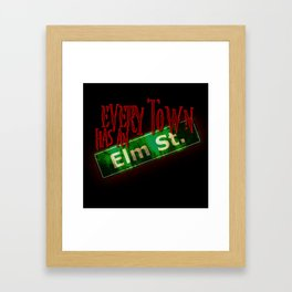 Every Town Elm Street Framed Art Print