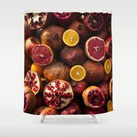 fruit Shower Curtains featuring Fruit by bellazarb