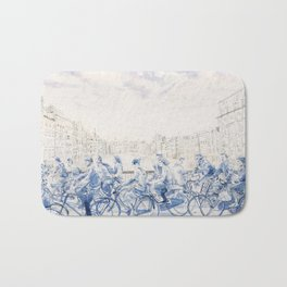 Amsterdam cyclists Bath Mat