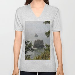 Beautiful View Over The Sea Unisex V-Neck