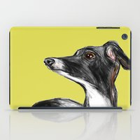 greyhound iPad Cases featuring Greyhound by James Peart