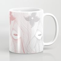 women Mugs featuring Women by Christian