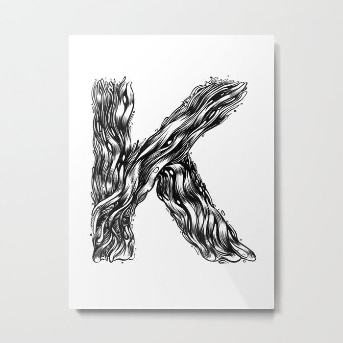 The Illustrated K Metal Print