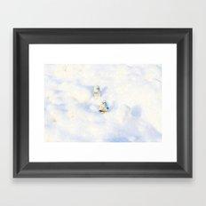 Snow Pop Framed Art Print