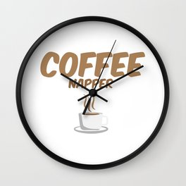 Coffee Drinking Gift Funny Coffee Napper Coffee Beans Lover Wall Clock