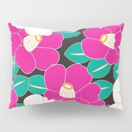 Shades of Tsubaki - Pink & Black Pillow Sham