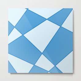 Geometric abstract - blue. Metal Print