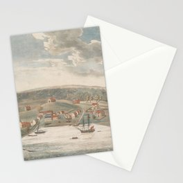 Vintage Pictorial Map of Baltimore MD in 1752 Stationery Cards