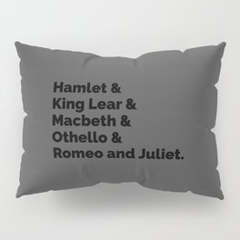 Shakespeare Plays II Pillow Sham
