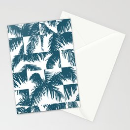 Palm Leaf Pattern Blue Stationery Cards