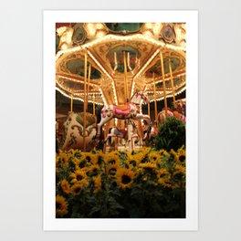 Merry-fields-go-round Art Print