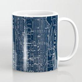 Vintage New York City Street Map Coffee Mug