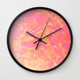 Sunny Flying Geometric Birds Design Wall Clock