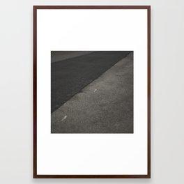 Grey shapes Framed Art Print
