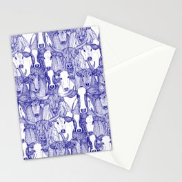 just cattle blue white Stationery Cards