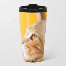 Red-white tabby Maine Coon cat Travel Mug