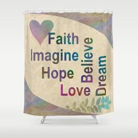 inspirational Shower Curtains featuring Inspirational by LLL Creations