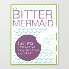 The Bitter Mermaid #12 Canvas Print