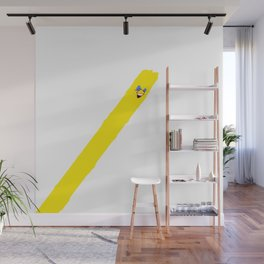 Stripe Bomb Yellow Long Wall Mural