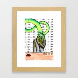 April Mental Monster: Obsessive-Compulsive Disorder Framed Art Print