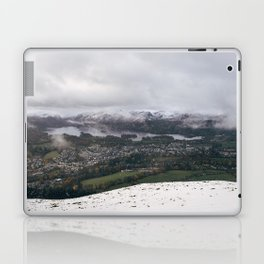 Views of Derwent Water and Keswick from Latrigg, covered in snow. Cumbria, UK. Laptop & iPad Skin