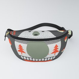 Christmas bears and birds Fanny Pack