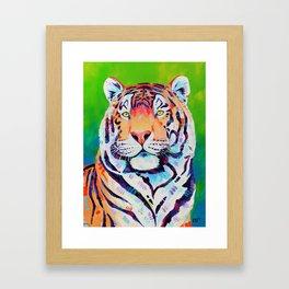 """Tiger art """"Shining Bright"""" Framed Art Print"""