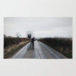 moody winter lanes Rug