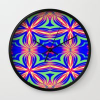 psychedelic Wall Clocks featuring Psychedelic  by 2sweet4words Designs