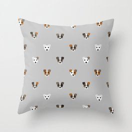 Jack Russell puppies Throw Pillow