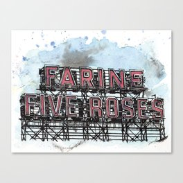 Farine Five Roses - Griffintown Canvas Print