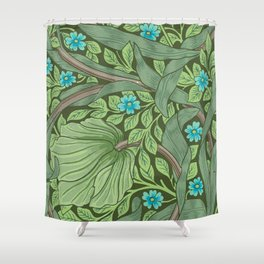 Forget-Me-Nots, Wallpaper by William Morris Shower Curtain
