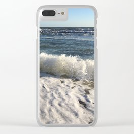 Crashing Sea Clear iPhone Case