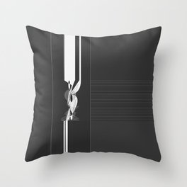Modern Black and White Pattern Abstract Throw Pillow