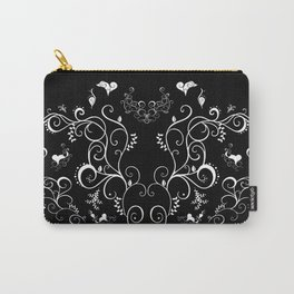 Abstract floral ornament in white color Carry-All Pouch