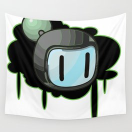 The Green Bomber  Wall Tapestry