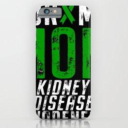 Kidney Disease Awareness Mom Ribbon iPhone Case