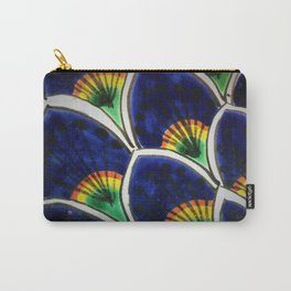 HAND PAINTED PEACOCK FEATHERS Carry-All Pouch