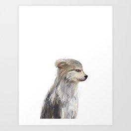 littlest wolf Art Print