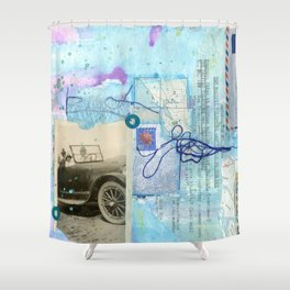 a day by the sea Shower Curtain