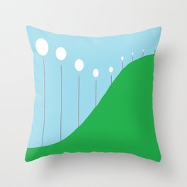 Abstract Landscape - Lights on the Hill Throw Pillow