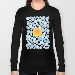 Hibiscus and Rainbow reflected on the bubble_Y Long Sleeve T-shirt