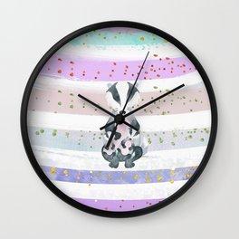 Pastel Color Tones Bea Badger by Bagaceous Wall Clock