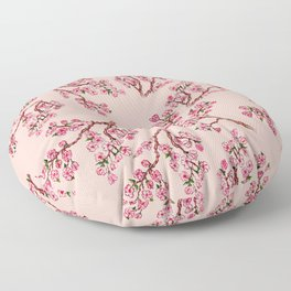 Sakura Branch Painting Floor Pillow
