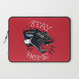 Stay Home Panther Tattoo Laptop Sleeve