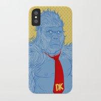 donkey kong iPhone & iPod Cases featuring Donkey Kong by Ismael Álvarez