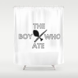 The Boy Who Ate - Wand and Chicken Crest Shower Curtain