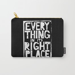 Everything in Its Right Place - Radiohead Carry-All Pouch