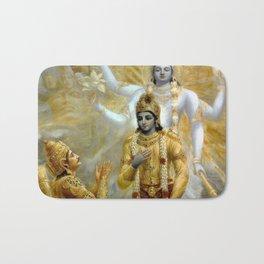 Lord Krishna Hindu Poster Yoga Buddhism Meditation Orient Bath Mat